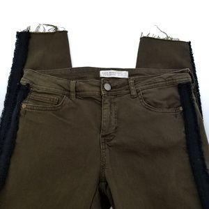Zara Basic Z1975 Olive Green Denim  Jeans (A114)